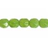 Fire/polished 6mm Green Opal Strung
